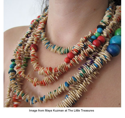 Maya Kuzman's organic necklace