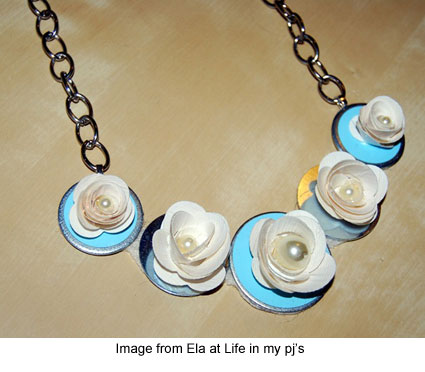 necklace made from duct tape and washers