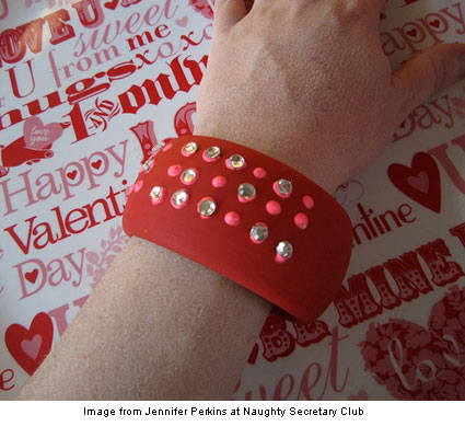 Bedazzled Braille Bangle Bracelet from Jennifer Perkins