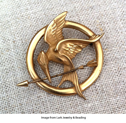 mockingjay pin from Dana Schneider