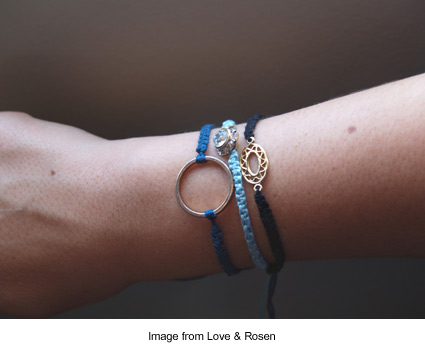 macrame bracelets from Love & Rosen