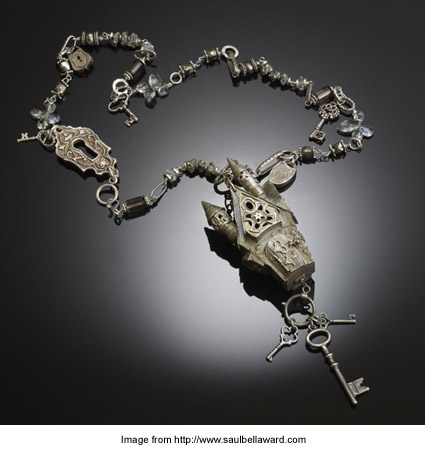 Christi Anderson's 2012 Saul Bell Design Award first-place metal clay necklace