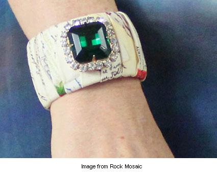 fabric cuff bracelet from Rock Mosaic