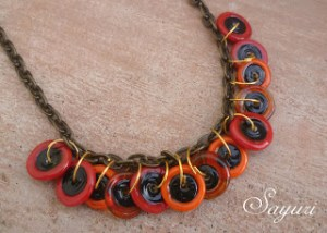 Fiery Disc Necklace