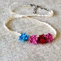 Clay Rose Necklace