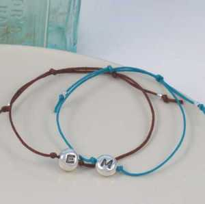 E and M beanie friendship bracelet LR