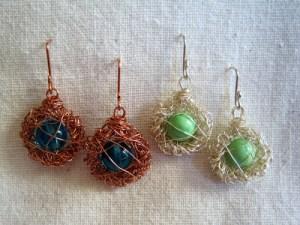 Birds Nest Earrings