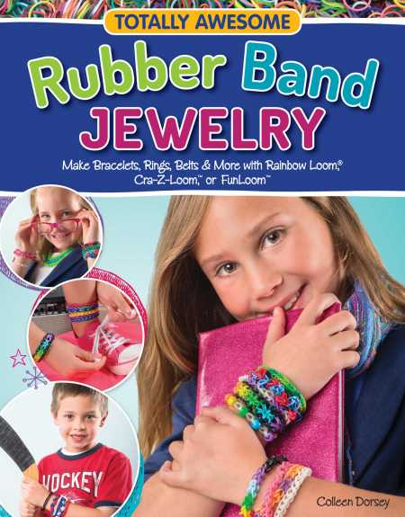 totally awesome rubber band jewelry book giveaway � craft