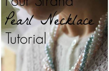 Four Strand Pearl Necklace Tutorial – With Video