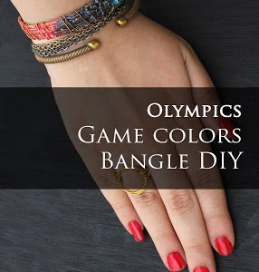 Bangle DIY to Cheer On Your Team for the 2016 Olympics