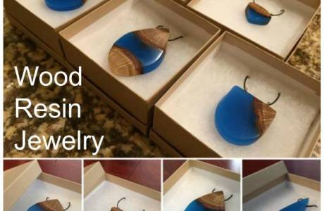 Glowing Wood Resin Jewelry