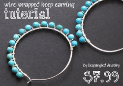 wire wrapped hoopearring tutorial