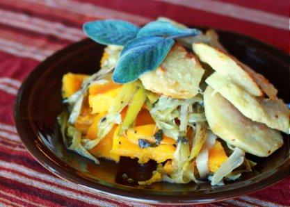 Apple Butter Nut Squash Gratin from Kitchen Treaty