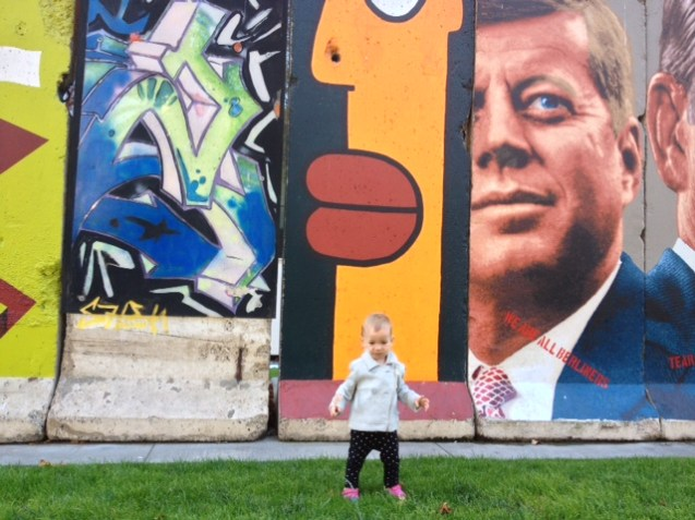 Siona and JFK on our trip to LA (I did not mean for that to rhyme).