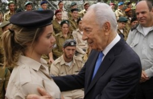 Peres and soldier