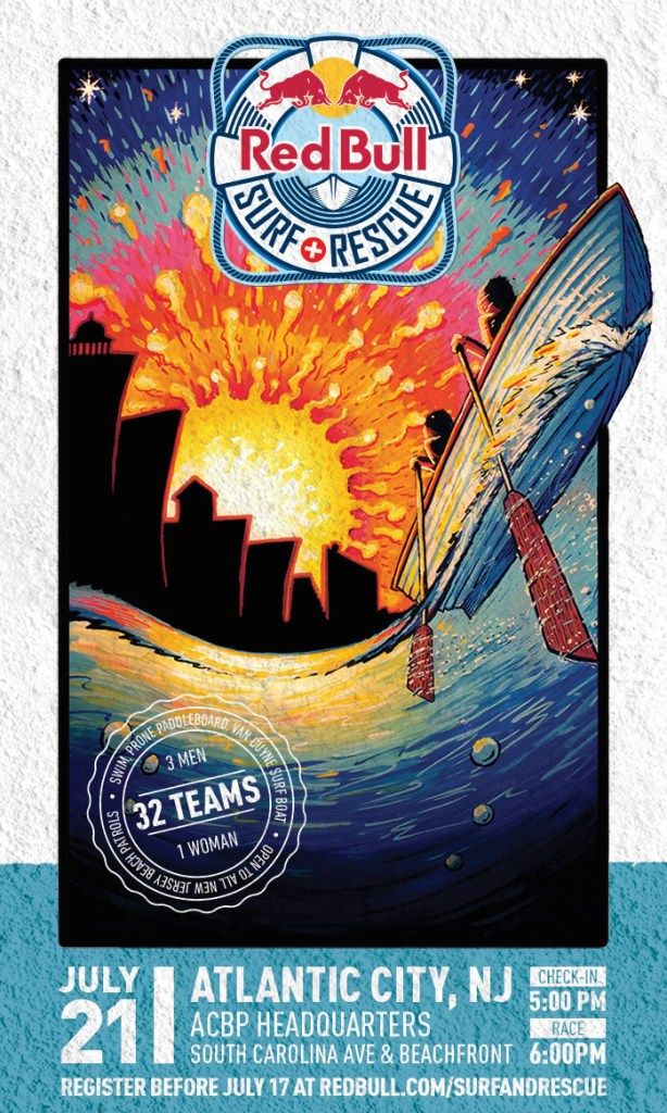 Design for Red Bull Surf and Rescue in Atlantic City, NJ