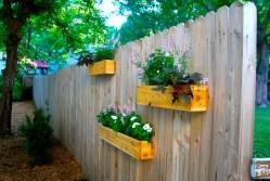 Idyllic Diy Cedar Planter Boxes Suburban Urbanist Fence Garden Planters Yard Update