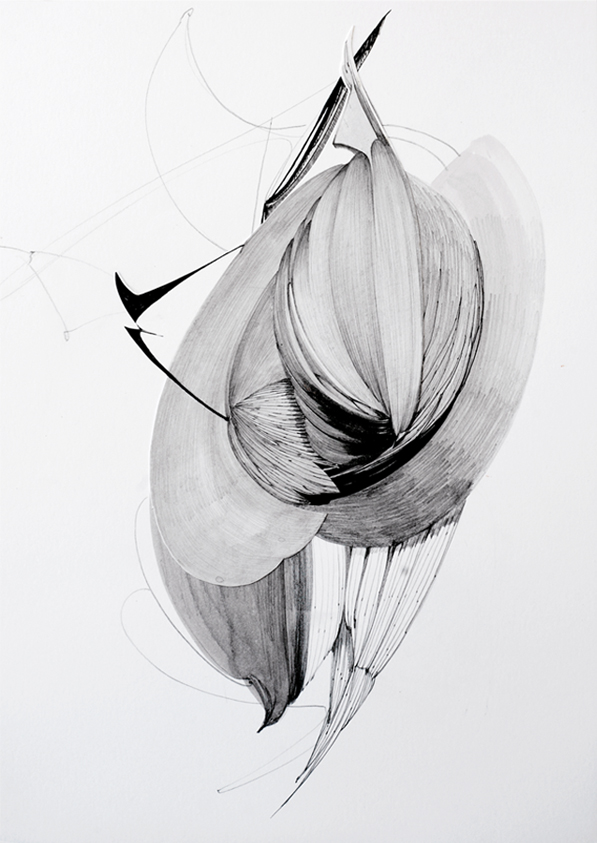 Untitled, 42x29.7cm, chinese ink on paper, 2012