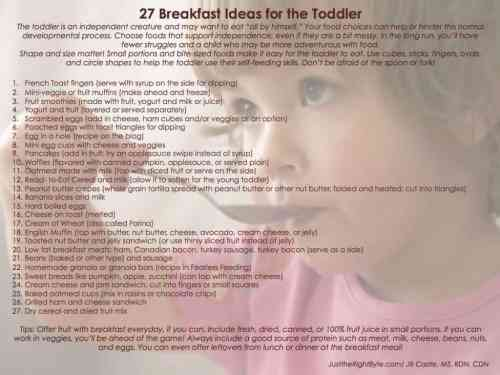 Medium Of Breakfast Ideas For Toddlers