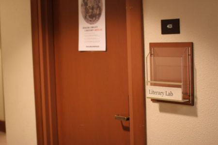 The door of the Stanford Literary Lab