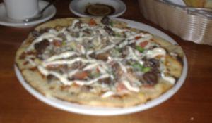 Beef tenderloin pizzette at 518 West