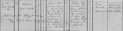 Héčová Aloisie nar. 1862 Adamov