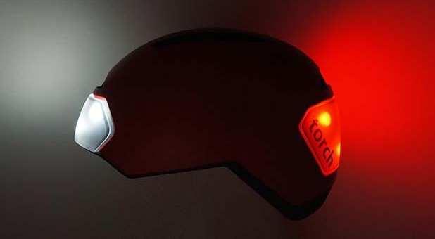 昼も夜も、安心の自転車ライフ!ライト一体型のヘルメットTorch-bicycle helmet