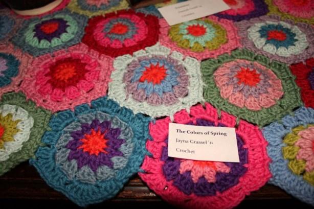 Crocheted Hexagon Blanket