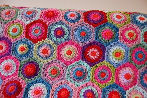 Crochet Hexagon Afghan