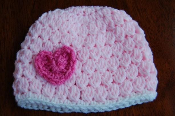 Girl's Crocheted Valentine's Day Hat