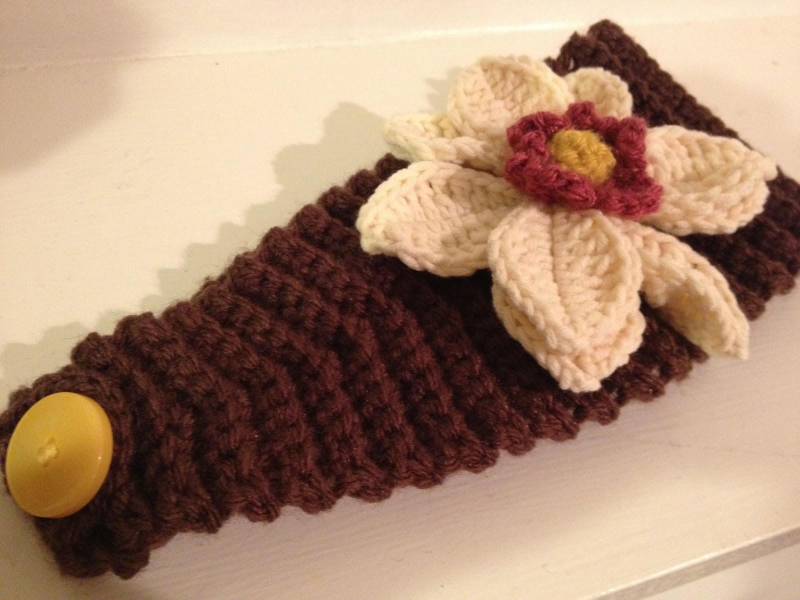 Free Crochet Magnolia Flower Pattern : Crochet Magnolia Headband - jkwdesigns