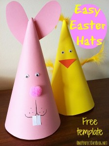 Bunny and Chick Easter party hats from One Perfect Day