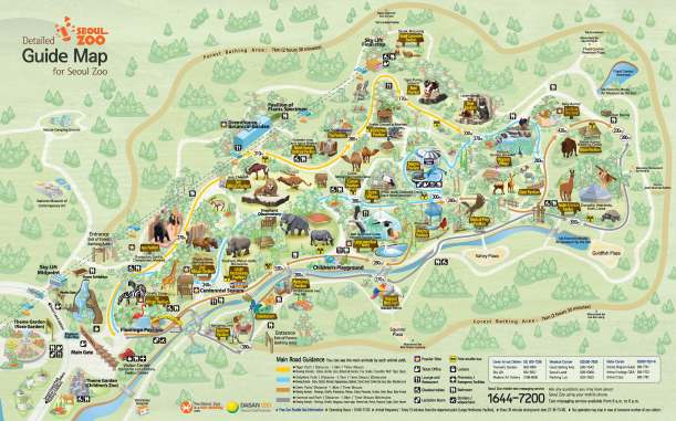 Map of Seoul Zoo