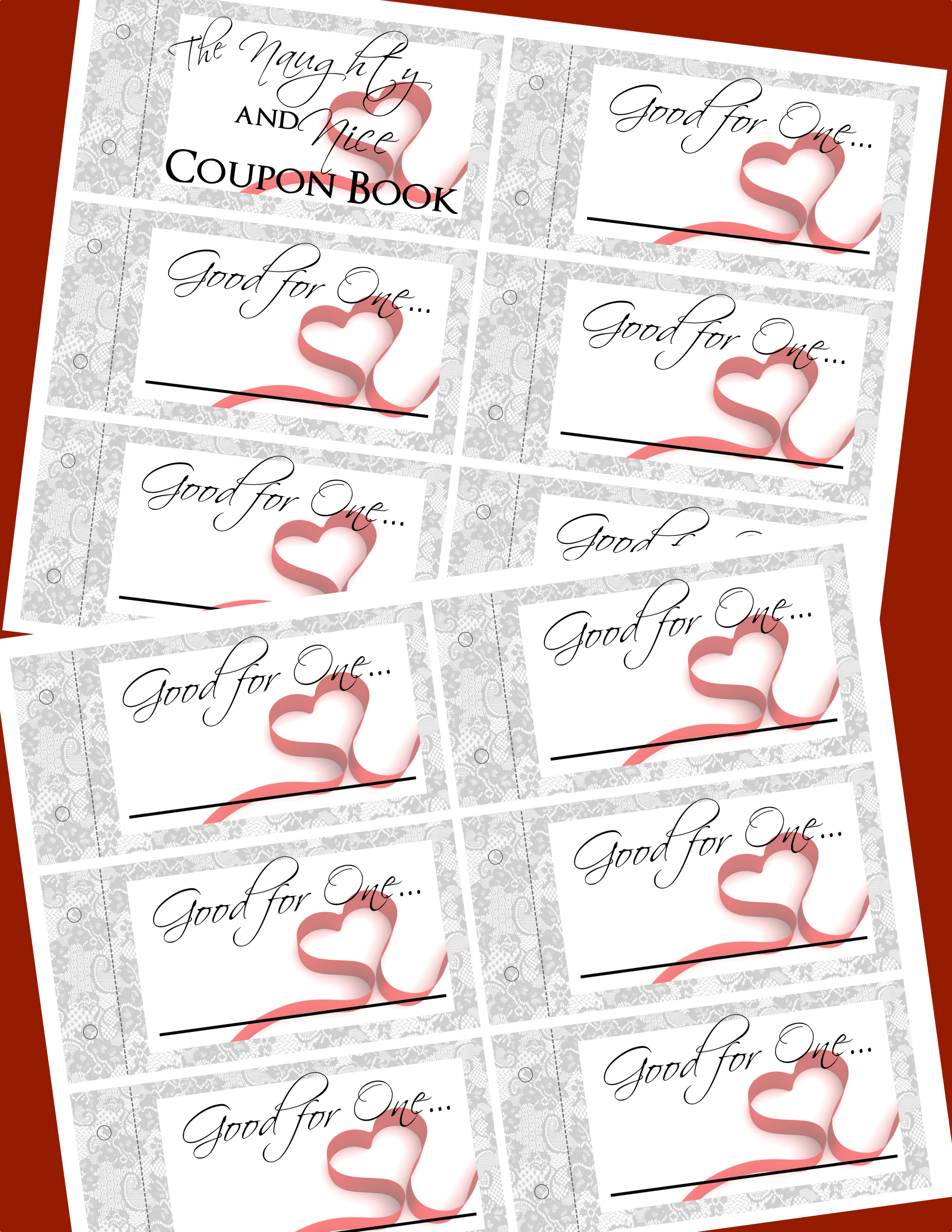 Naughty coupons printable