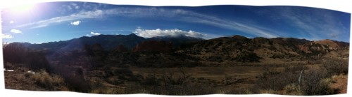 My daily run in the Garden of the Gods