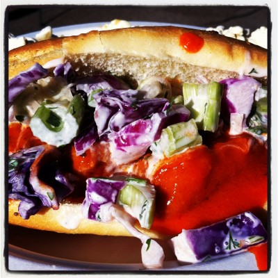 SpicyTofuffalo Sandwich from the Vegan Van