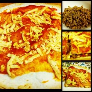 Quick Vegan Pepperoni Tortilla Pizza Collage