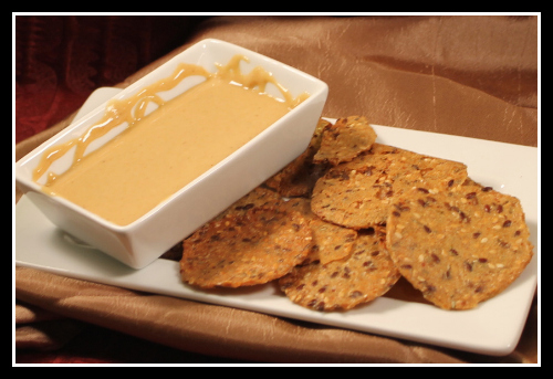 Curry Peanut Butter with Herb crackers 500