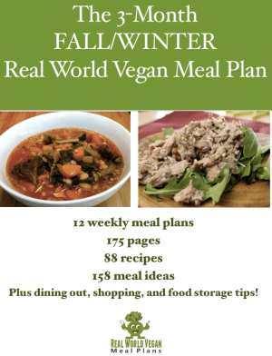The 3-month FALL/WINTER Real World Vegan Meal Plan