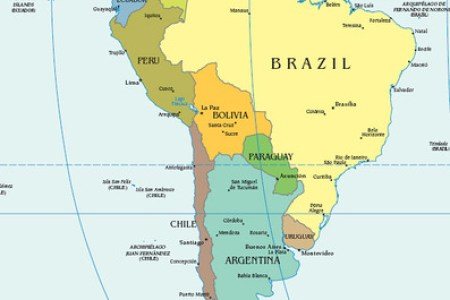 Map Of Mountains In Brazil - Argentina map mountains