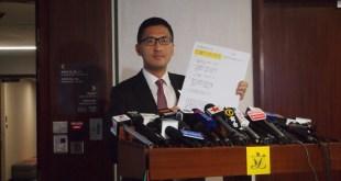 林卓廷反對中央讓梁振英出任全國政協副主席,希望全國政協委員三思。(廖浩曼攝)