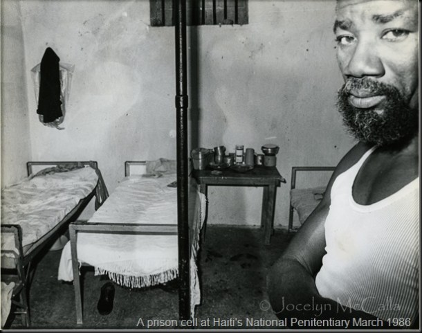 Haitian Prisoner in his cell at National Penitentiary March 1986