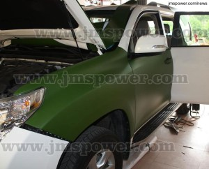 DJM Matte Army Green Car Sticker Car Vinyl Wrap