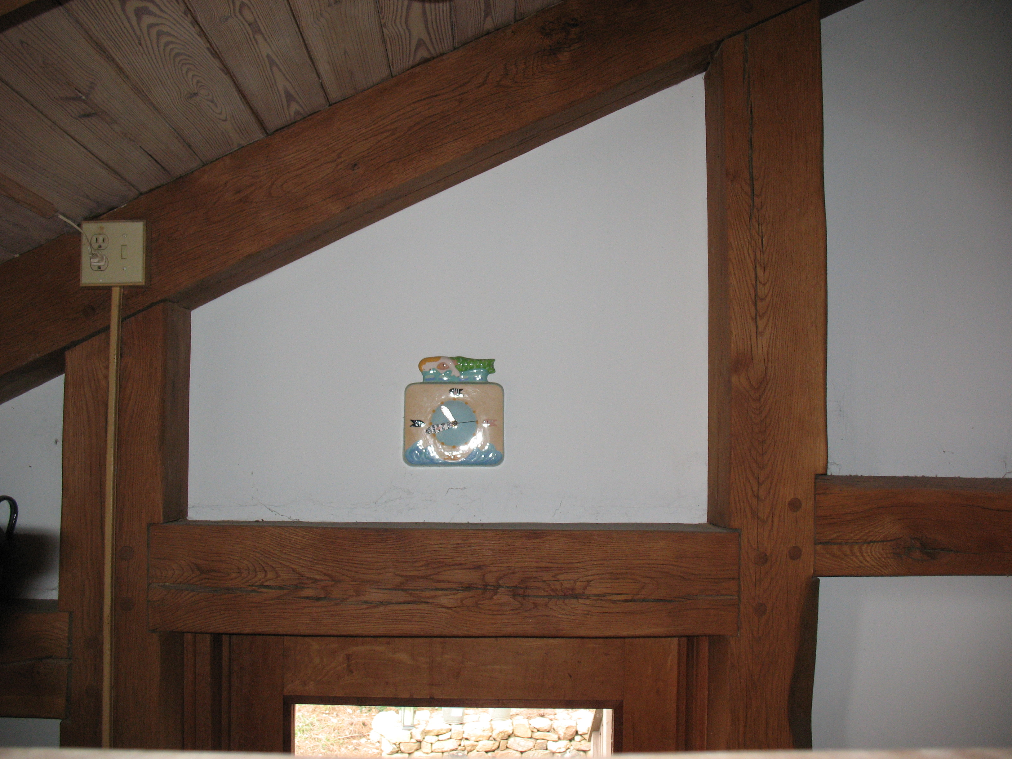 Wonderful Four Pegged Lintel Synonym Post Housed Mortises Tenons Join Lintel Beams To Two Posts Timber Frame Joinery My Jim Wallace Post Lintel Art Definition houzz 01 Post And Lintel