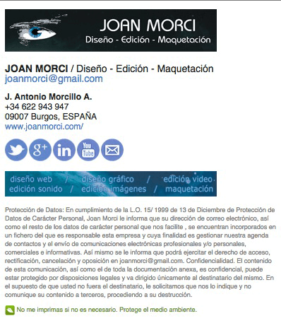 Firma Email Elegante Con Html Joan Morci Dise O