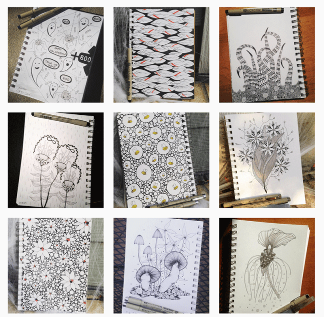 Daily Drawing Practice: Inktober Challenge