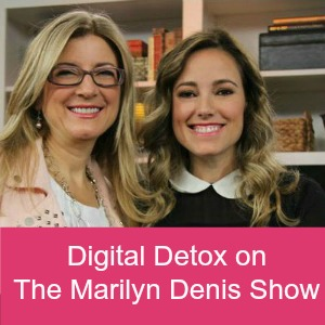 Getting a Digital Detox on the Marilyn Denis Show Jan 1 with Amber MacArthur and Jo-Ann Blondin 300 pink banner