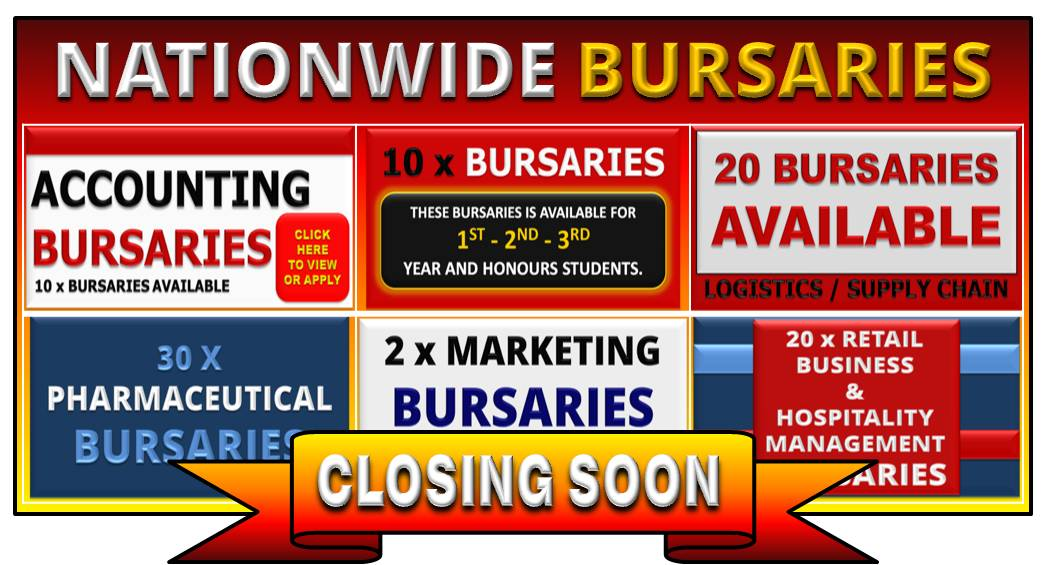 NATIONWIDE BURSARIES CLOSING 11 DECEMBER 2015