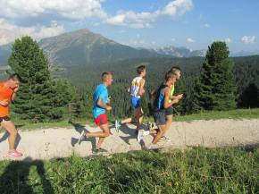 Laufen in den Dolomiten
