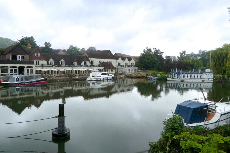 Trip - The Swan from the Streatley bridge.